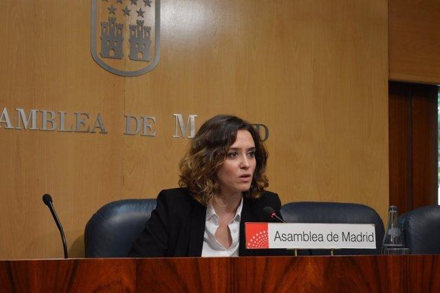 Portavoz adjunta del PP, Isabel Díaz Ayuso