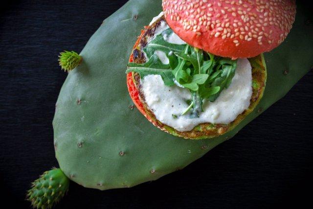 Hamburguesa de cactus