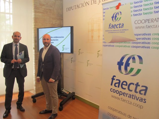 Presentación del convenio entre la Diputación y Faecta-Jaén.