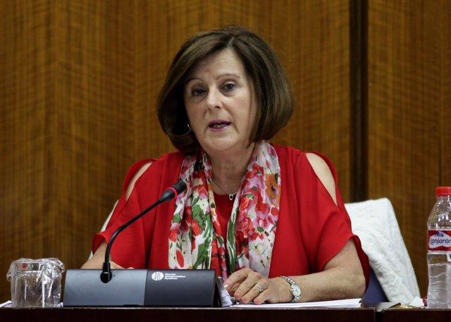 María José Sánchez Rubio comparece en la comisión de Políticas Sociales