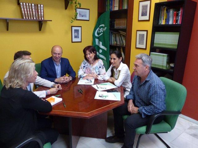 Reunión de CSIF y Cs