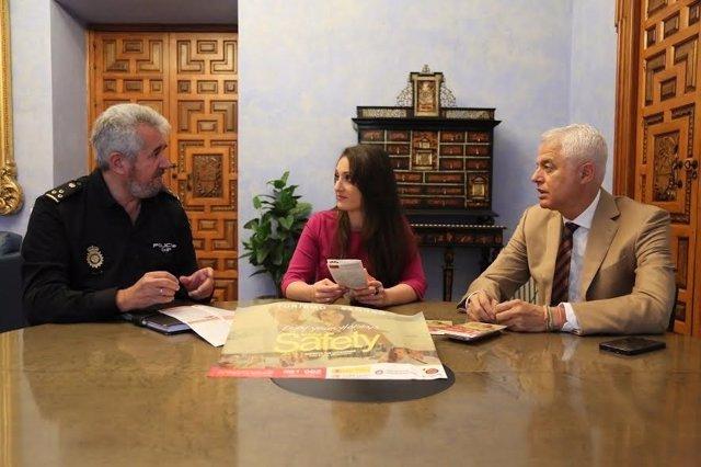 Gómez y Valdivia durante su encuentro