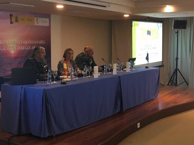 La Delegada del Gobierno en Baleares, Maria Salom, en un acato