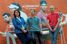 Eurosport emitirá 250 horas en directo de Roland Garros y hará de Eurospor 2 el canal de la 'Armada'
