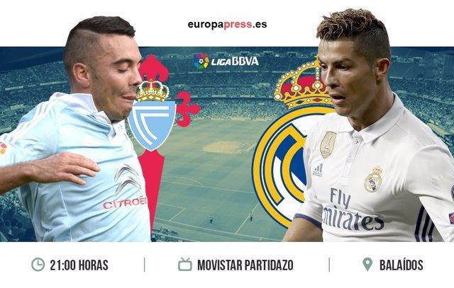 Horario y dónde ver el Celta de Vigo – Real Madrid | Jornada 21 Liga Santander