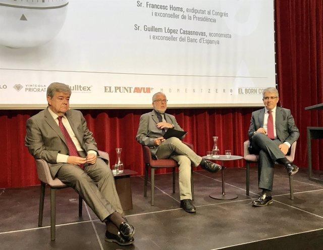 Guillem López Casasnovas, Xevi Xirgu y Francesc Homs