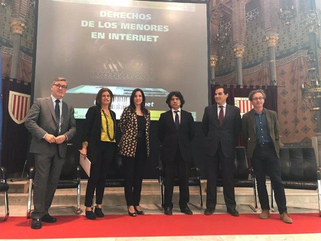 Secretarios de Estado M.Marín, C.Sánchez, M.Garcés, J.A.Nieto y J.M.Lassalle
