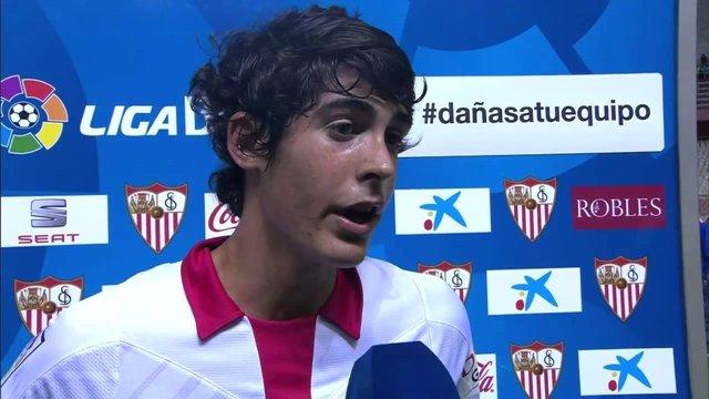 Carlos Fernández, jugador del Sevilla