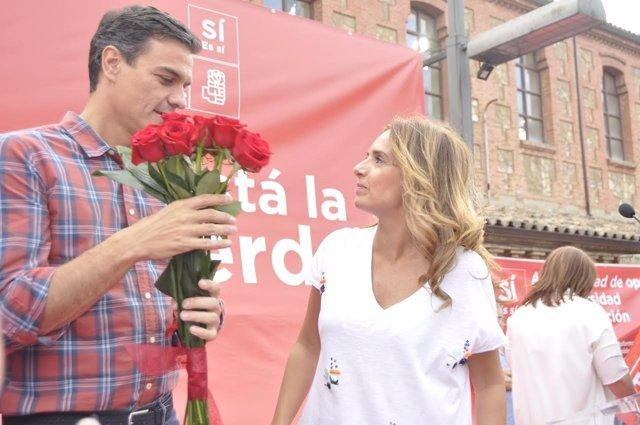 Pedro Sánchez y Susana Sumelzo