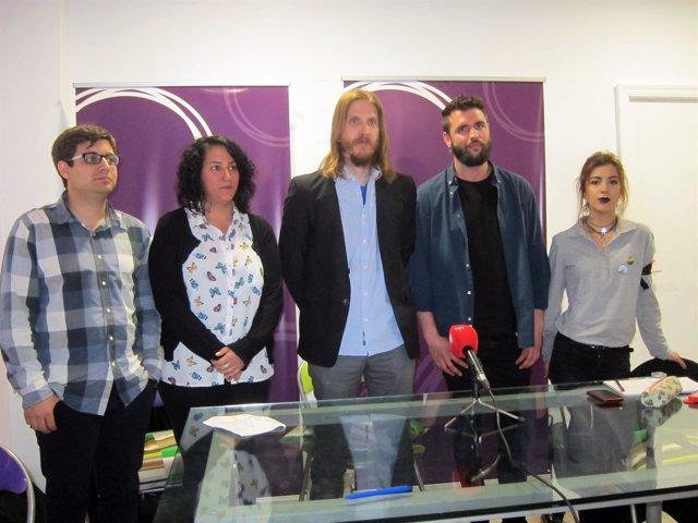 Pablo Fernández y miembros de su candidatura