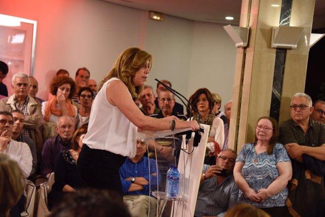 Susana Díaz, en un acto en Valladolid