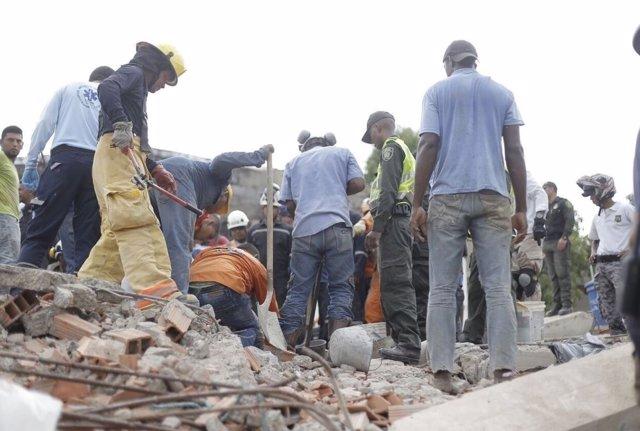 Derrumbe de un edificio en Cartagena de Indias