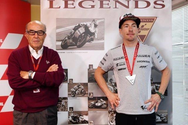 Nicky Hayden Carmelo Ezpeleta salón fama MotoGP leyenda