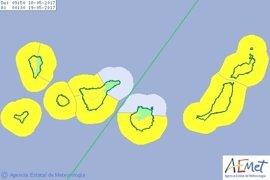 Canarias estará estos jueves y viernes en riesgo por vientos y fenómenos costeros adversos