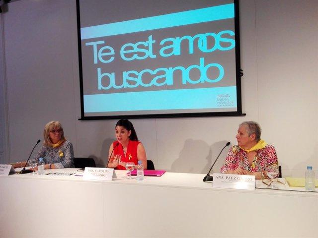 Adelina Ruiz, Ana Paez y Carolina Escudero