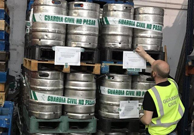 Barriles de cervezas intervenidos en 'Operación Barrilete'