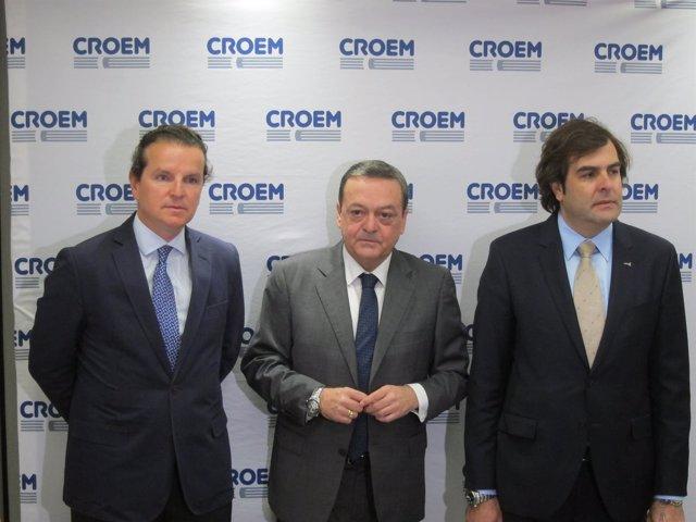 De izq. A dch., Antonio García, José María Albarracín y Pedro Pablo Hernández