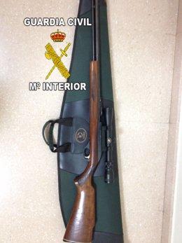 Escopeta intervenida por la Guardia Civil