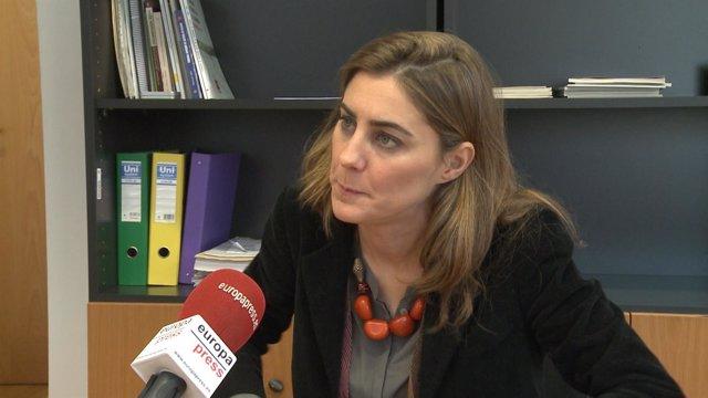 Lorena Ruiz-Huerta, portavoz de Podemos en la Asamblea de Madrid