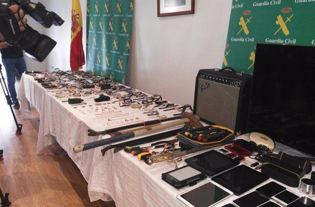 Efectos intervenidos en dos operaciones contra robos en viviendas