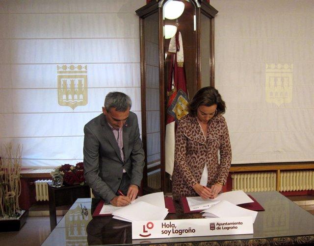 Gamarra y Rubio firman el convenio