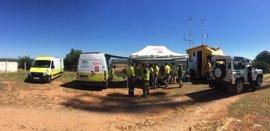 La Junta realiza un simulacro de incendio forestal en el Parque Periurbano de Sierrezuela en Posadas