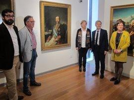 González Menorca presenta en el Museo de La Rioja el cuadro del Marqués de Orovio, del retratista Federico Madrazo