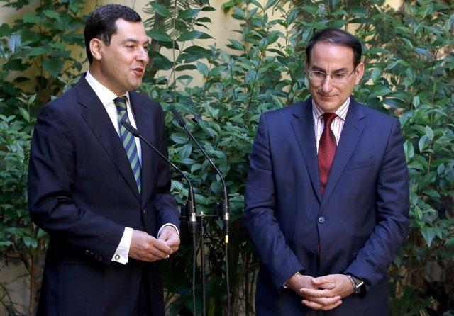 Juanma Moreno y Javier González de Lara