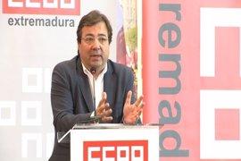 """Vara considera que hay un """"abandono absoluto"""" del Gobierno central hacia Extremadura y el sur de España"""