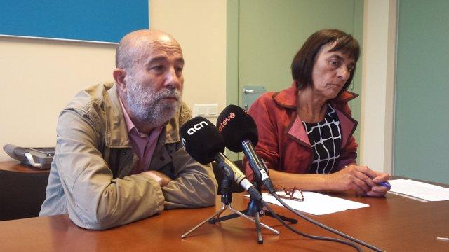 Joan Balañach (Favb) y Anna Moreno (Salvem les Drassanes)