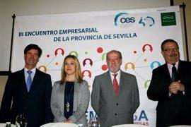 El III Encuentro Empresarial de la Provincia de Sevilla reúne a más de 150 empresarios en Alcalá de Guadaíra