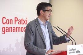 Patxi López celebrará su último acto de campaña en Orio
