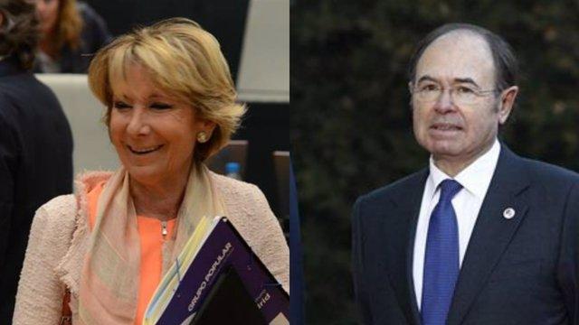 Esperanza Aguirre y Pío García Escudero