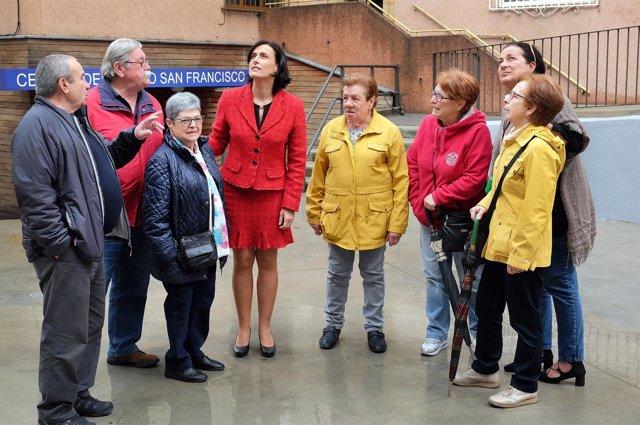 Gema Igual y Carmen Ruiz en el Grupo San Francisco