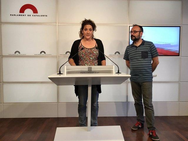 Núria Gibert y Benet Salellas, CUP