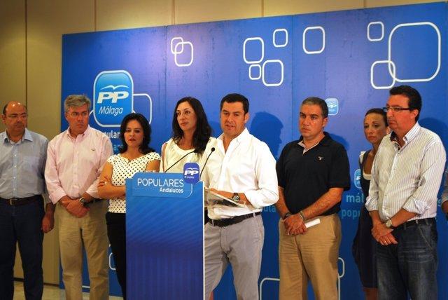 Juanma Moreno con presidentes provinciales del PP-A