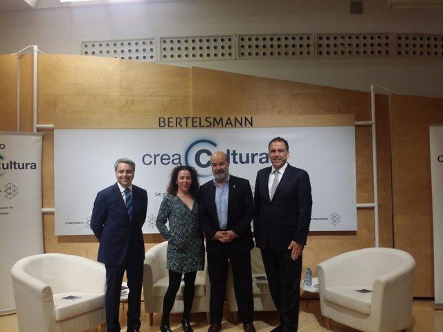 Vicente Vallés, Sandra Hermida, Antonio Resines y Paco Ramos