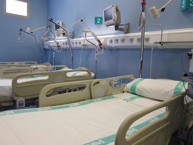 Camas hospitalarias del Servicio Aragonés de Salud