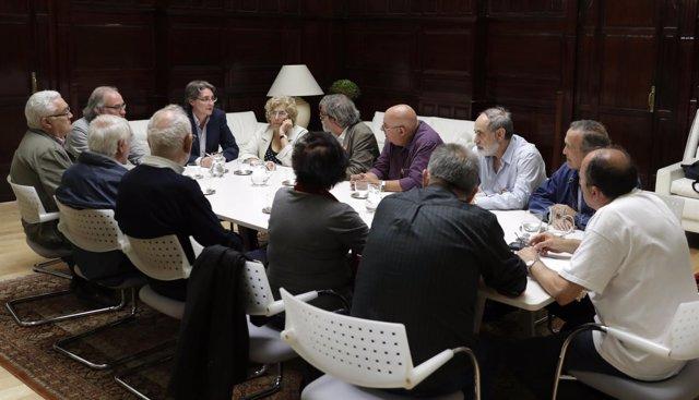 Carmena y la Coordinadora por la Defensa del Sistema Público de Pensiones