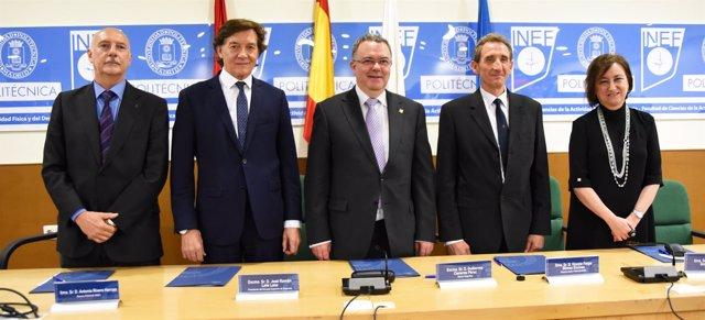 José Ramón Lete con el presidente del INEF