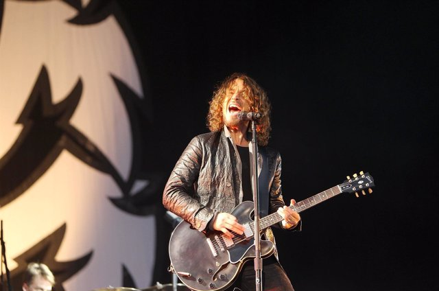 Chris Cornell of Soundgarden performs at Hard Rock Calling in Hyde Park, London
