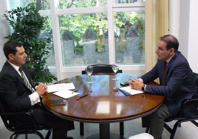 Nota De Prensa Y Foto. Reunión Presidente De Cea Y Presidente Del Pp Andalucía.