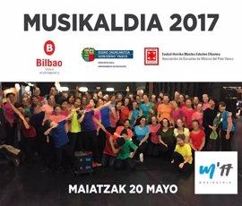 Más de 3.800 alumnos de música se reúnen en el Musikaldia