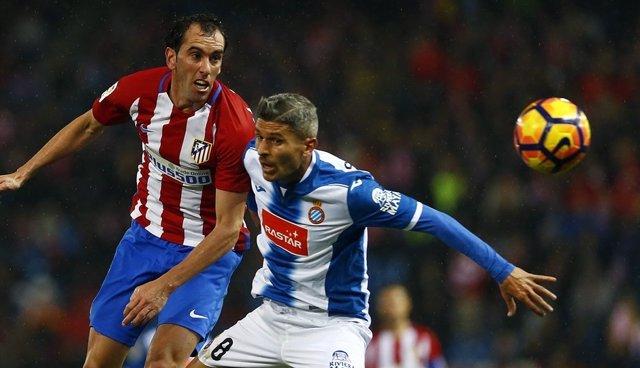 Diego Godín Atlético de Madrid contra Espanyol