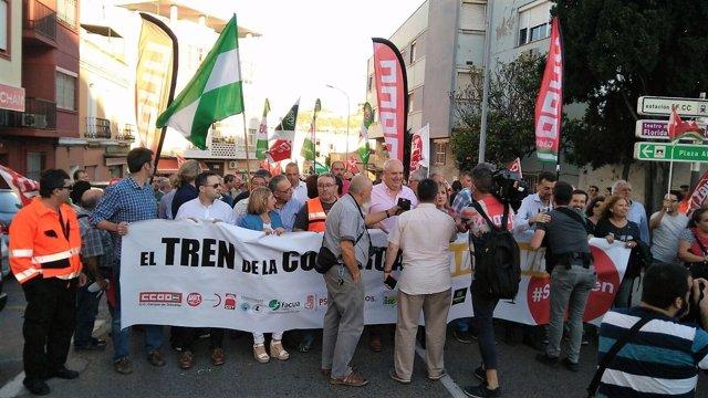Manifestación por la Algeciras-Bobadilla