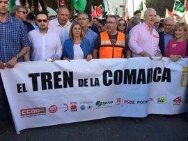 Irene García (PSOE) pide una mayor inversión en la vía férrea Algeciras-Bobadilla en los PGE