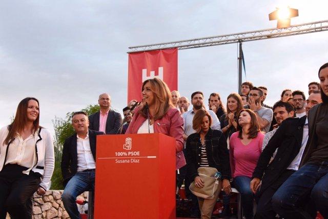 Susana Díaz participa en un acto con militantes en Valencia