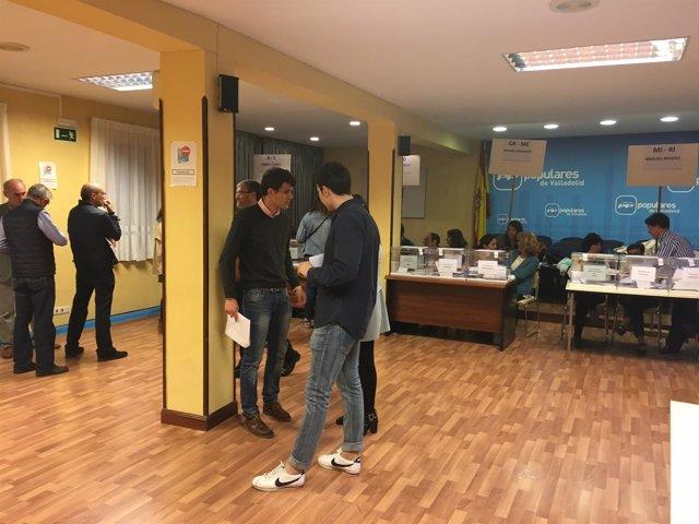 Valladolid, votación en la sede del PP