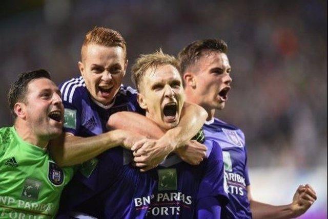 El Anderlecht celebra el título de Liga en Bélgica