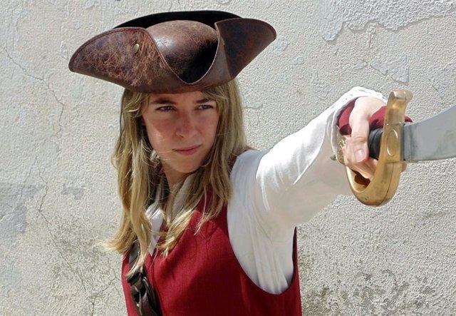 Recreación de un personaje de Piratas del Caribe